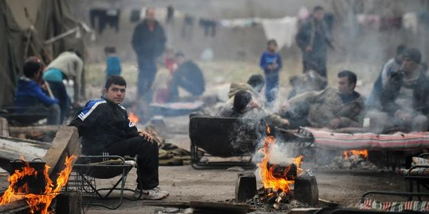 A refugee camp located in former military barracks in the town of Harmanli, Bulgaria  © NIKOLAY DOYCHINOV/AFP/Getty Images