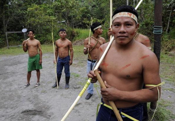 TO GO WITH AFP STORY  - Ecuadorean Waora