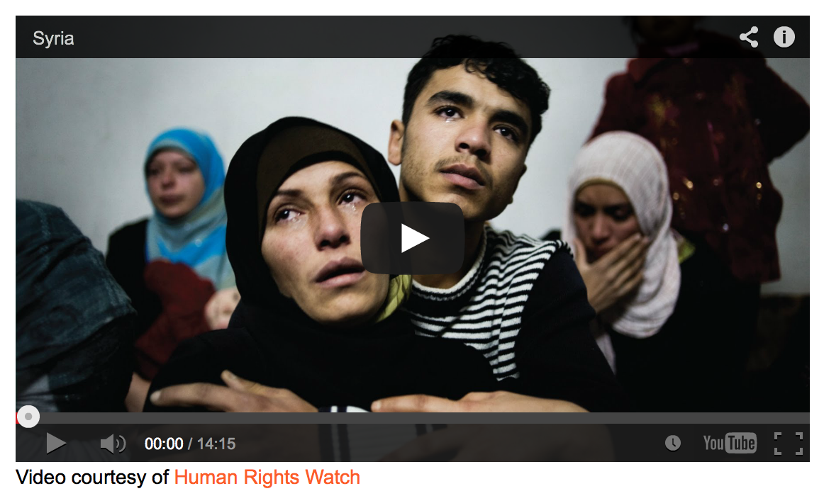 HRW Syria video