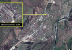 A satellite image from Kwanliso 16 prison camp, taken on 26 May 2013. © DigitalGlobe 2013