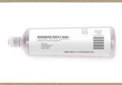 The bottle can be returned for recycling with the return shipping label attached._large