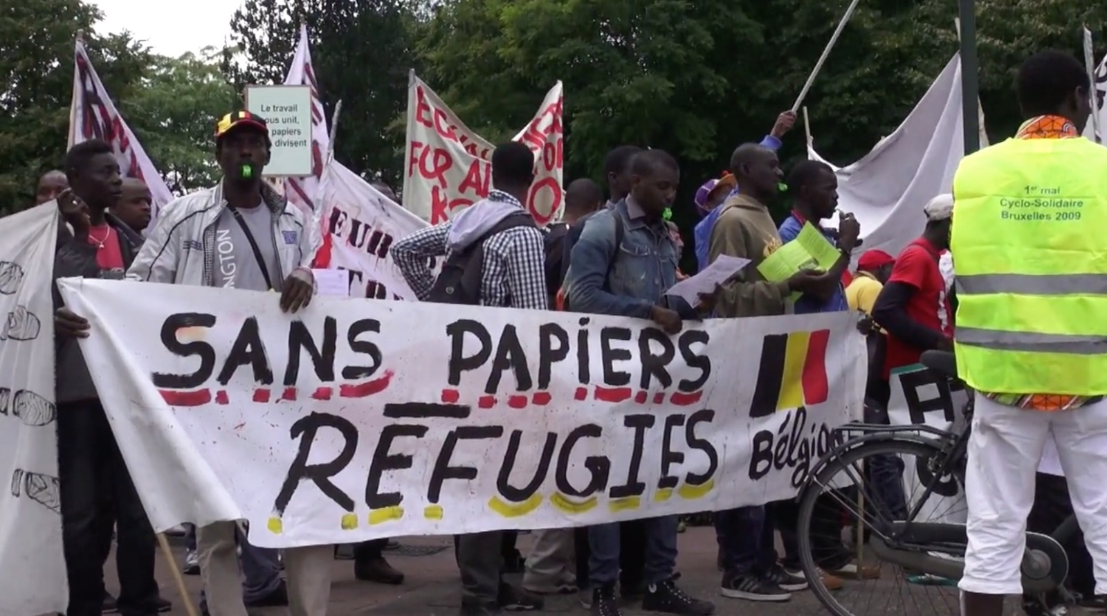 refugee march