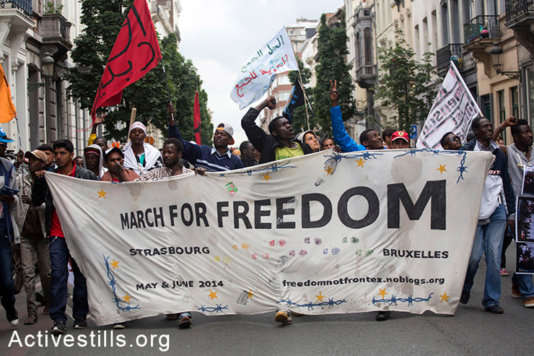 March for Freedom, Brussels, May 2014