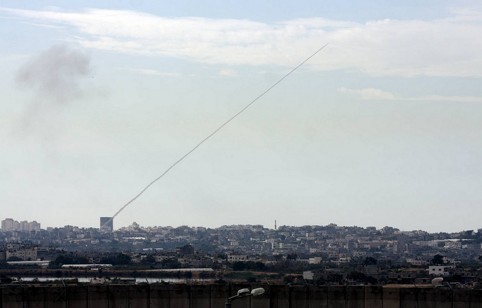 A_rocket_fired_from_a_civilian_area_in_Gaza_towards_civilian_areas_in_Southern_Israel