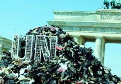 UN Sebrenica Shoes Berlin