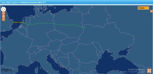 flight tracker mh 17
