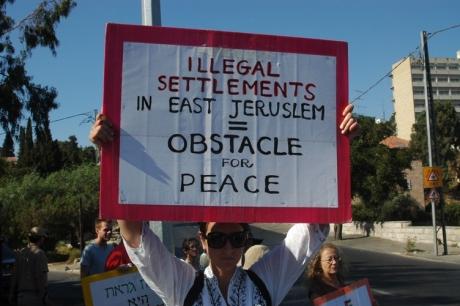 Protest against Israeli settlement in East Jerusalem