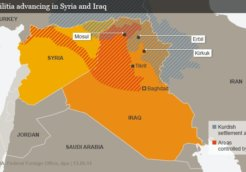 ISIS militia advancing