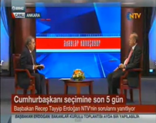 Turkey\'s PM Erdogan Interview on Turkish news channel NTV