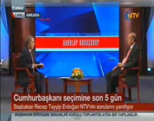 Turkey\'s PM Erdogan Interview on Turkish news channel NTV