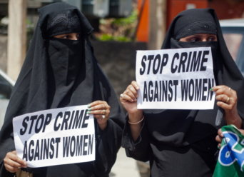 Women Workers Protest Over Crime Against  Women In Kashmir