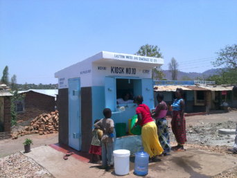 A_water_kiosk_in_Chipata_(7642999604)