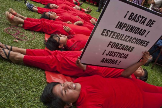 They demand: Stop the impunity of forced sterilization! Justice now!