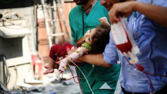 barrel bomb hospital