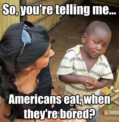 Skeptical African Kid