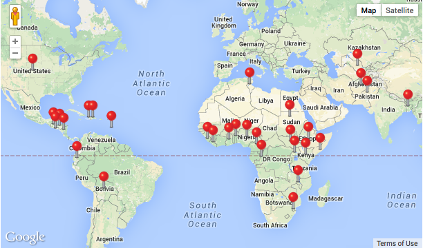 Where the \'Global Soap Project\' is already working.