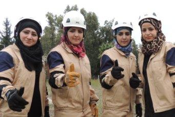 white helmets women