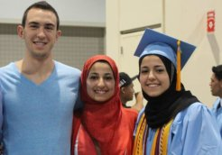 Deah Barakat, his wife Yusor Abu-Salha, and her sister Razan Abu-Salha