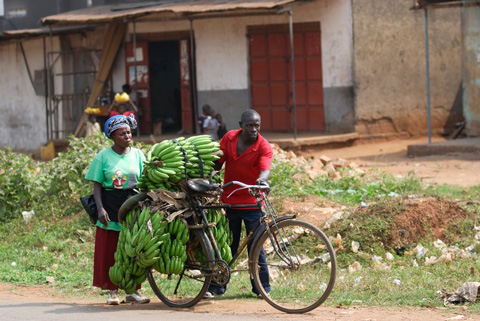 Farmers on their way to the market.