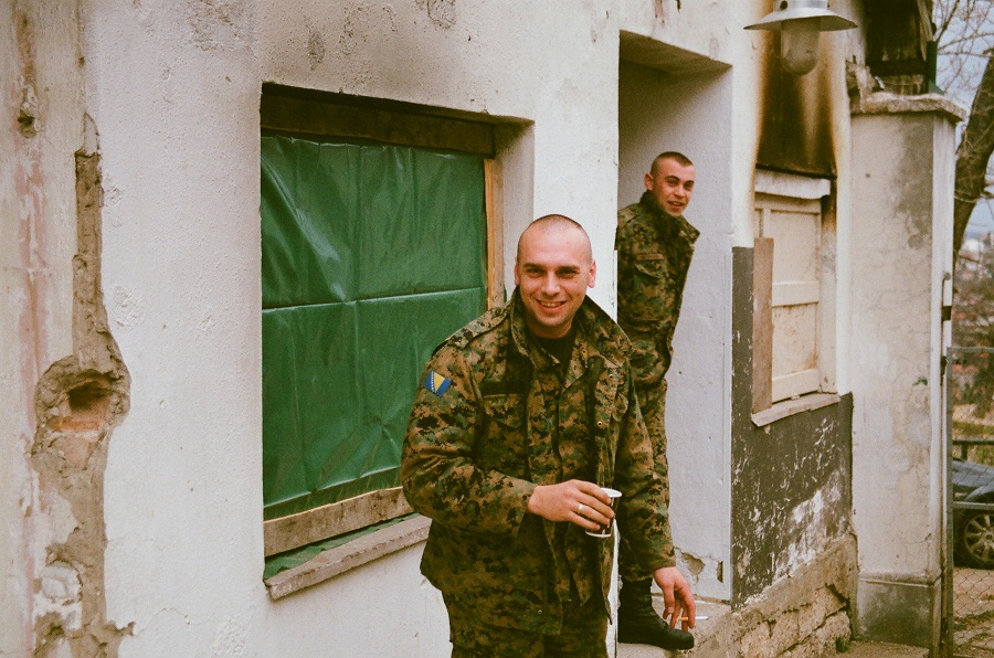 Bosnian Soldier Guards