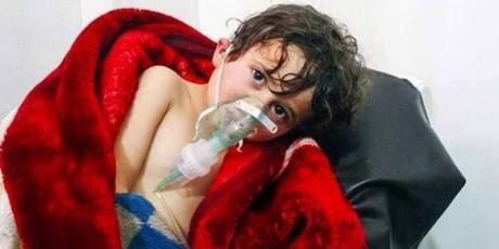 syrian children killed by bombs
