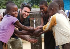 Josh Braunstein enjoys using first clean water