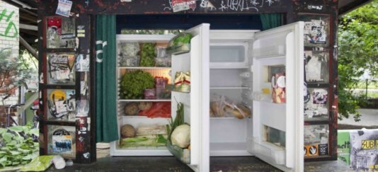 The sharing fridges are an offshoot of Foodsharing.de, where more than 55,000 users throughout Germany advertise their leftovers free to be picked up by someone hungry nearby.
