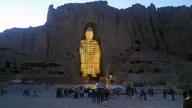 Buddha's statue at the Bamiyan festival