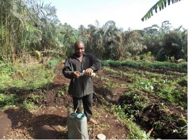Cameroon farmer Abidng Solomon