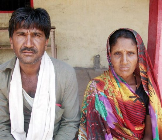 The father of the two children, Lal Singh (left), is a farmer and lives in Mohanpura village in the state's Khargone district. He said it was with a heavy heart that he traded his beloved children to shepherd Bhura.