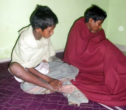 12-year-old Sumit and his 11-year-old brother Amit were traded in August 2014 by their father to a shepherd of Rajasthan named Bhura.