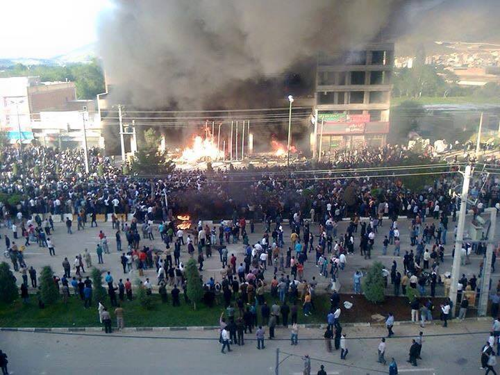 Kurdish mass protests in Mahabad