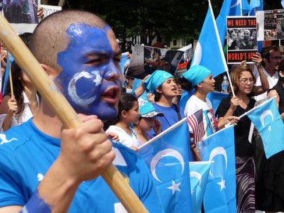 uyghur protestors