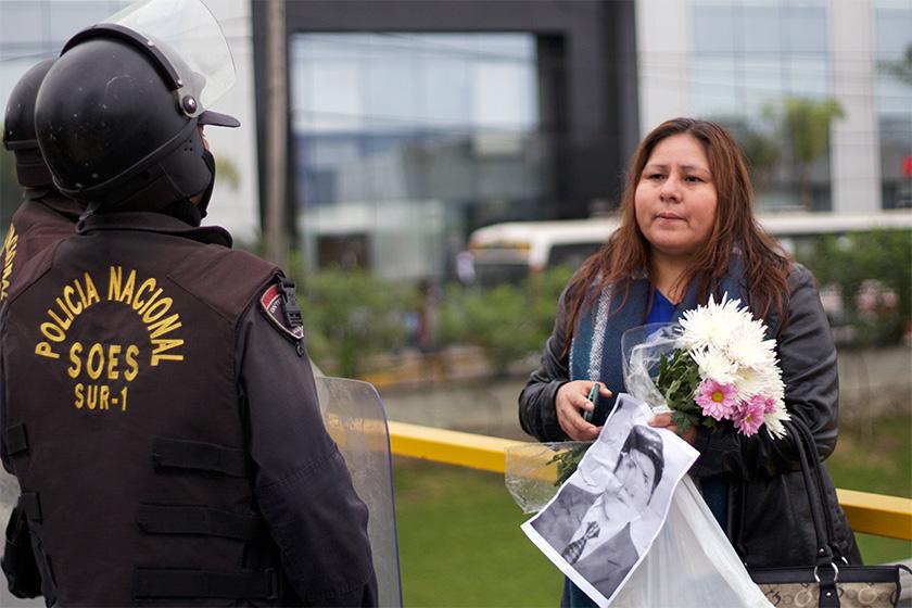 Luyeva_Yangali, daughter of the disappeared Fortunato Yangali, will not give up.