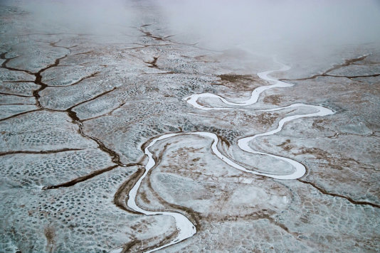 Malakatyn river at Bolshoy Lyakhovsky Island, part of Lena Delta Wildlife Reserve, Sakha, Russia