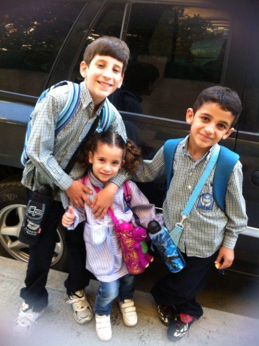Abdel Aziz Al-Chami and his siblings.