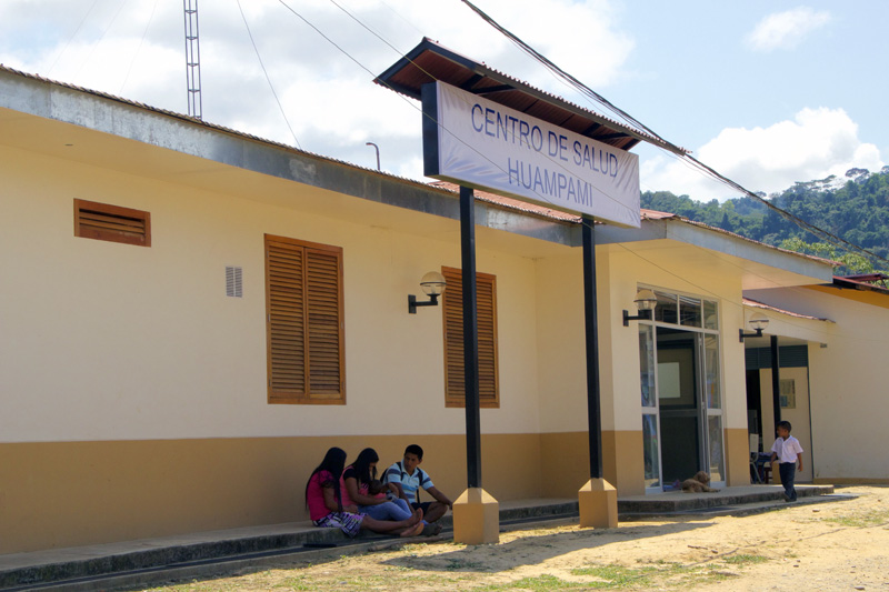 The health station in Huampami