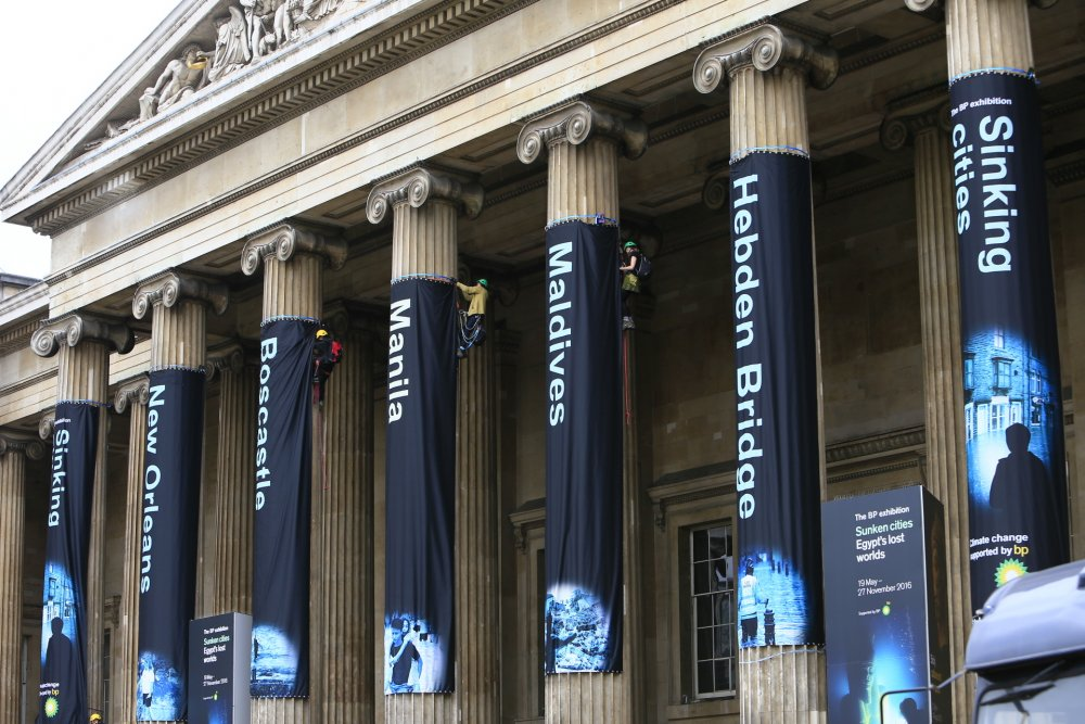 Greenpeace protest at British Museum BP exhibition