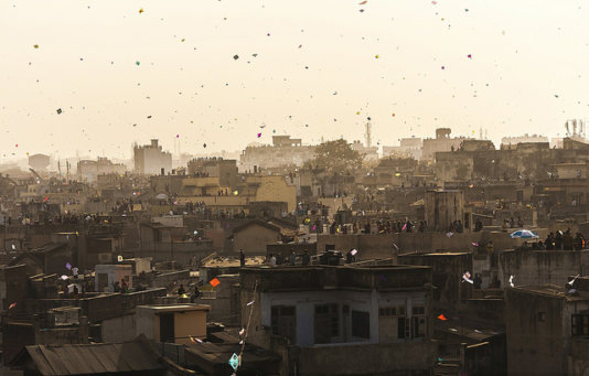 City on the roof, Ahmedabad, India