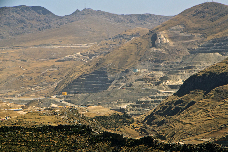 General view of the Las Bambas mine