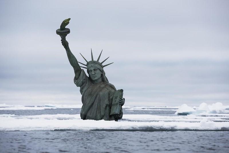 climate change statue liberty