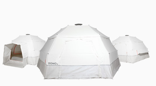 The \'Domo\' is able to change shape depending on the needs of its users, starting out as an emergency shelter but with the possibility to grow into a stable long-term home, depending on what a user or family of users needs.
