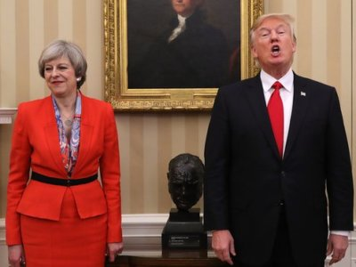Trump, Churchill and May
