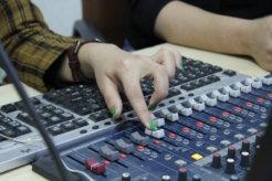 In the studio of Radio Dange © Wadi e.V.