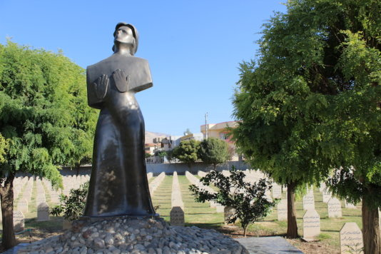 A massgrave monument in Halabja