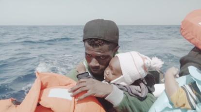 SEA RESCUE FATHER BABY