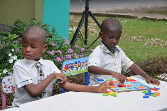 Pupils of the Ray of Hope Academy in Douala