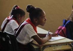 education school girls cuba