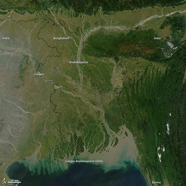 Bangladesh delta nasa