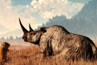 woolly rhino illustration